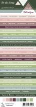 Etiquette un air botanique - Bandes de mots botanique