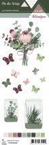 Etiquette un air botanique - Papillons et Plantes