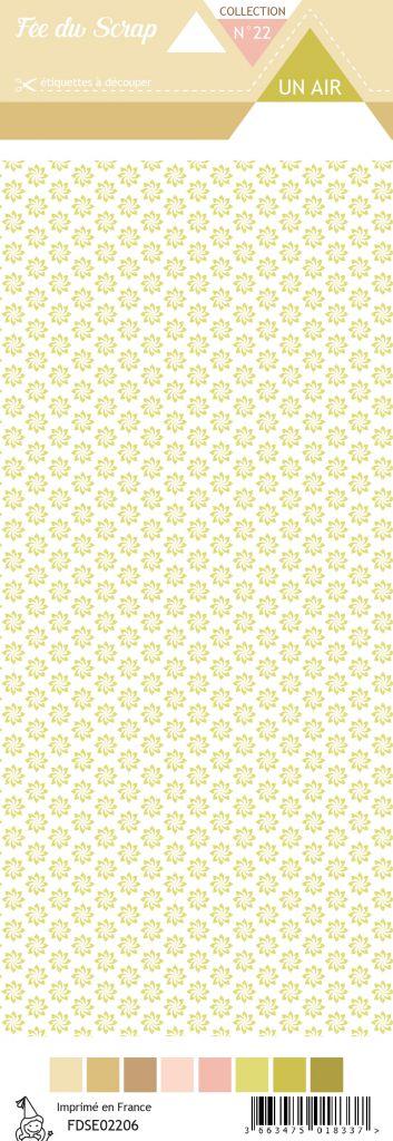 Etiquette un air champêtre - fleurs vertes
