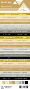 étiquette Un air Chic beige bandes de mots