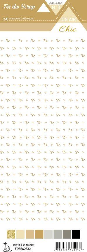 étiquette Un air Chic beige cœurs beige