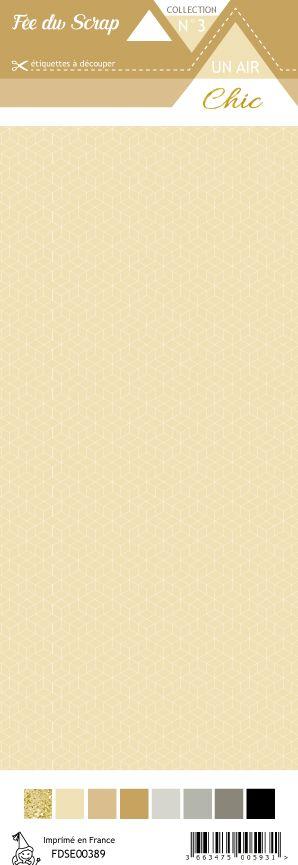 étiquette Un air Chic beige étoile nordique beige