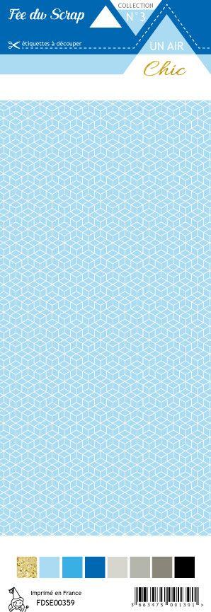 étiquette Un air Chic bleu étoile nordique bleu