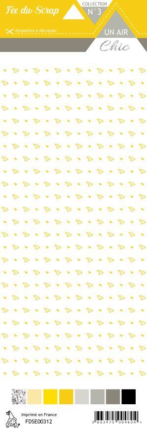 étiquette Un air Chic jaune cœurs jaune