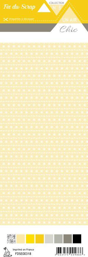 étiquette Un air Chic jaune étoile nordique jaune