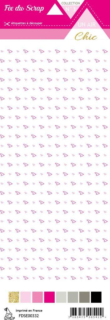 étiquette Un air Chic rose cœurs rose
