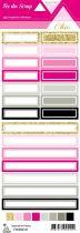 étiquette Un air Chic rose étiquettes rectangles
