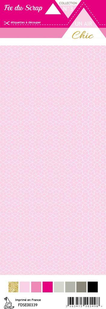étiquette Un air Chic rose étoile nordique rose