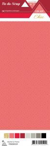 étiquette Un air Chic rouge étoile nordique rouge