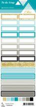 étiquette Un air Chic turquoise étiquettes rectangles