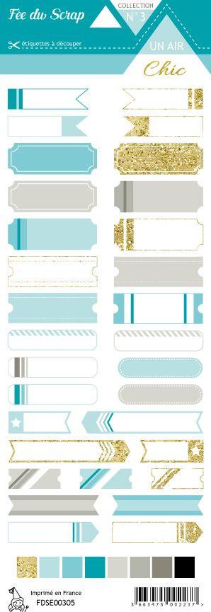 étiquette Un air Chic turquoise étiquettes tickets