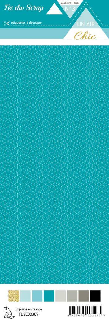 étiquette Un air Chic turquoise étoile nordique turquoise