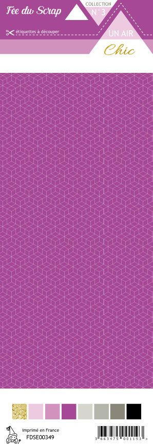 étiquette Un air Chic violet étoile nordique violet