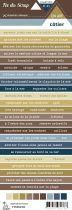 Etiquette un air côtier - Bandes de mots multicolores