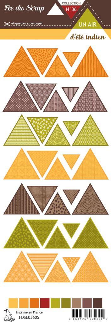 Etiquette un air d\'été indien - Triangles