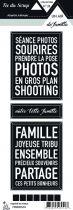 Etiquette un air de famille - Cartes project life