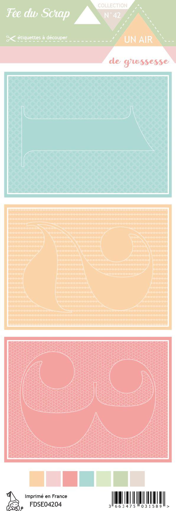 Etiquette un air de grossesse - Cartes project life 1 2 3
