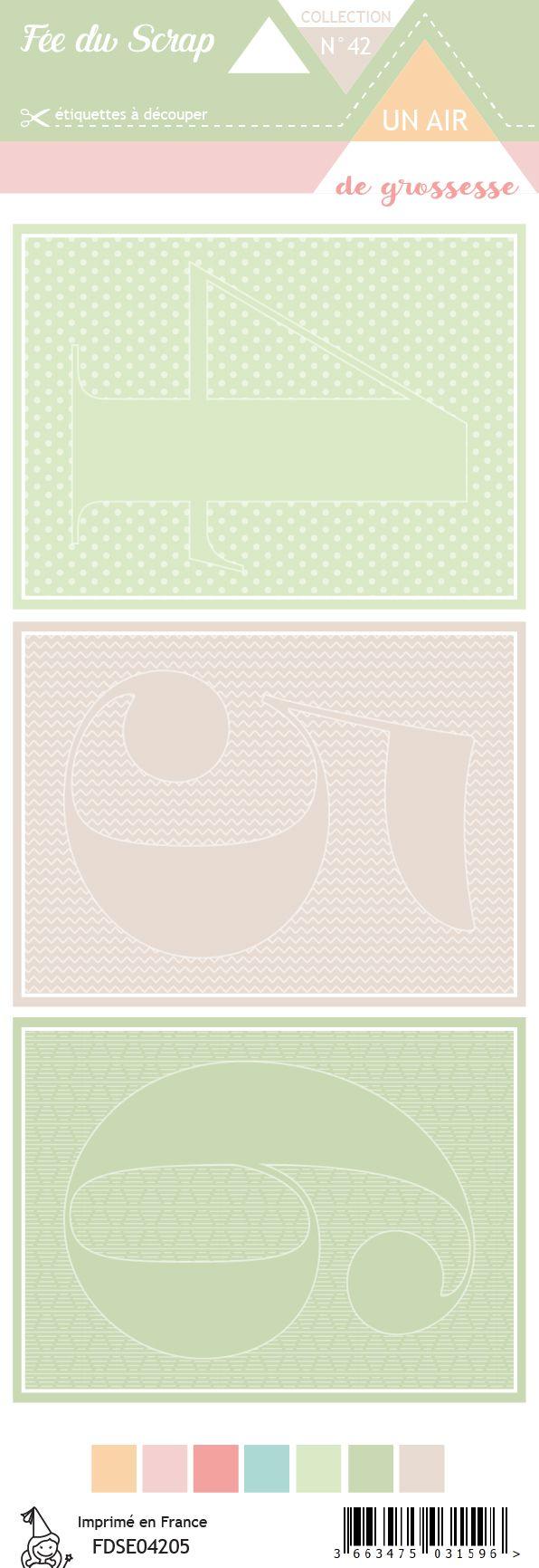 Etiquette un air de grossesse - Cartes project life 4 5 6
