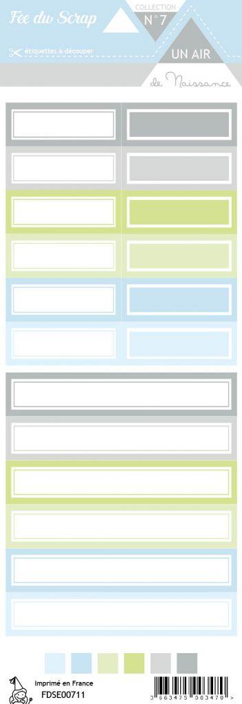 étiquette Un air de naissance garçon étiquettes rectangles