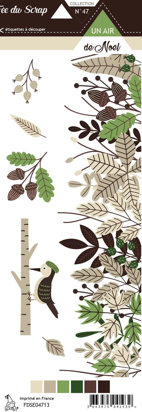 Etiquette un air de noël - pic vert