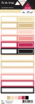 Etiquette un air de noël 2018 - étiquettes rectangles