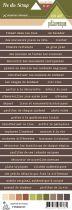 Etiquette un air de pittoresque - Bandes de mots marron