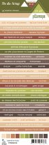 Etiquette un air de pittoresque - Bandes de mots multicolores