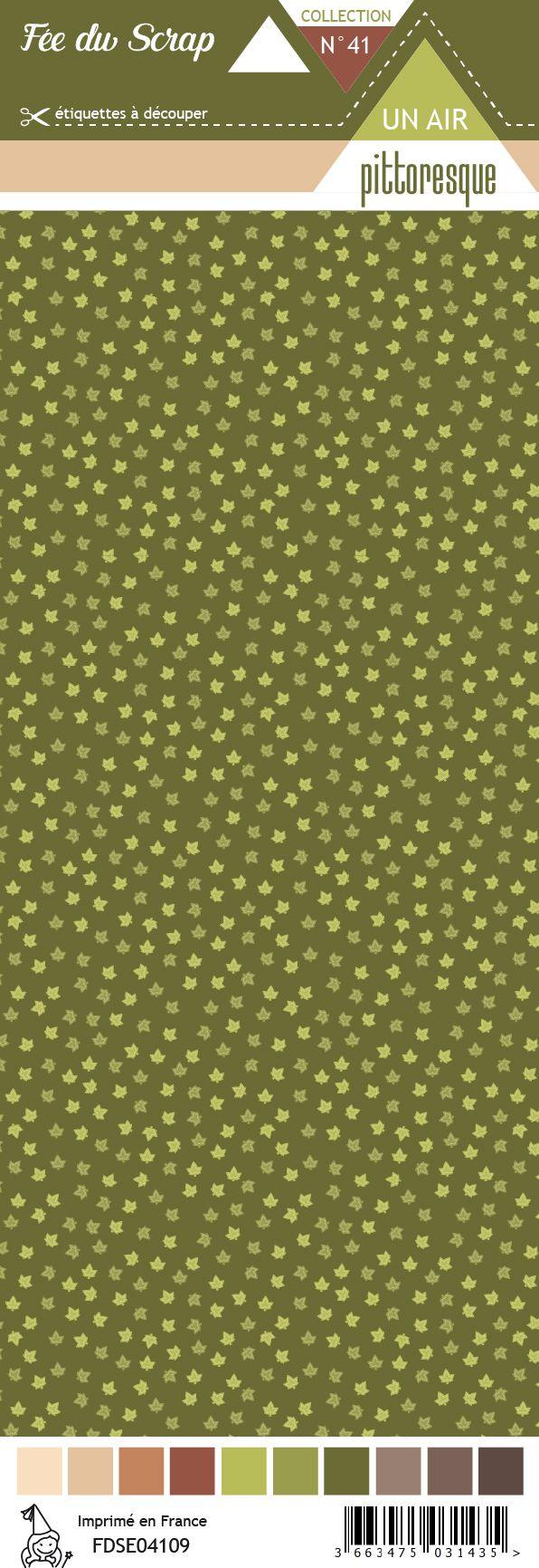 Etiquette un air de pittoresque - Feuilles vertes