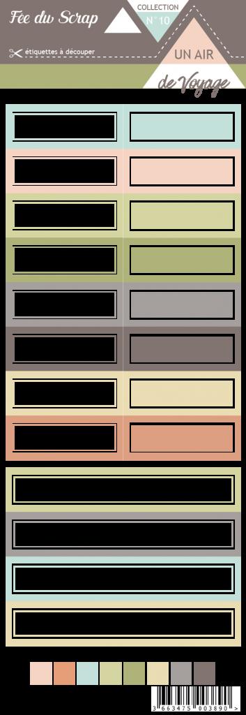 étiquette un air de voyage étiquette rectangle