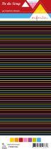 étiquette un air enfantin rayures multicolores