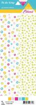 étiquette Un air estival fleurs d\'hibiscus/feuilles