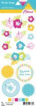 étiquette Un air estival fleurs d\'hibiscus