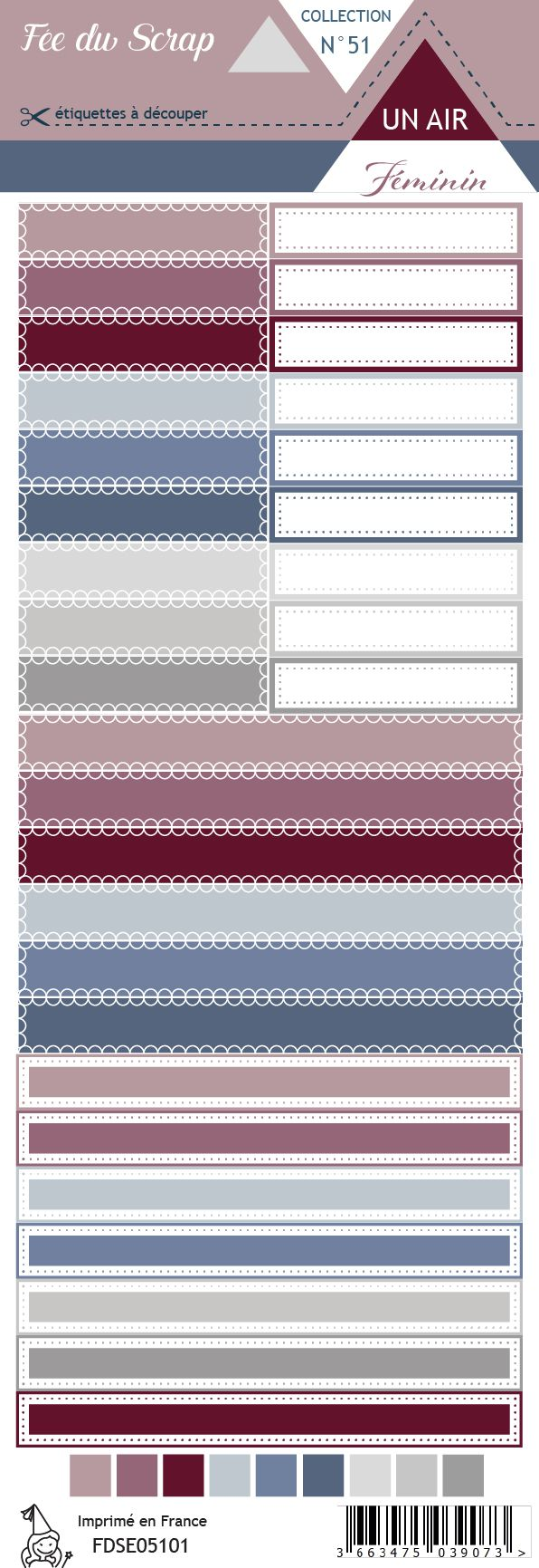 Etiquette un air féminin - Etiquettes rectangles