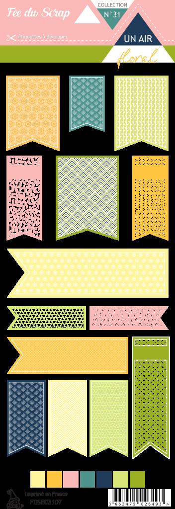 Etiquette un air floral - fanions