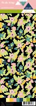 Etiquette un air floral - fleurs multicolores