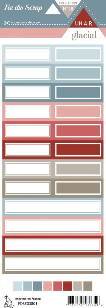 Etiquette un air glacial - Etiquettes rectangles