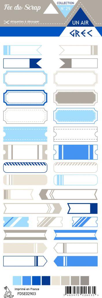 Etiquette un air grec - étiquettes tickets