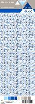Etiquette un air grec - mosaïque de carrés
