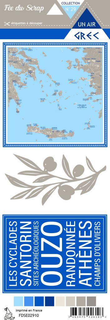 Etiquette un air grec - project life