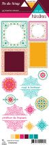 Etiquette un air hindou - cadres et rosaces