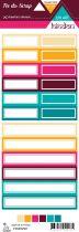 Etiquette un air hindou - étiquettes rectangles