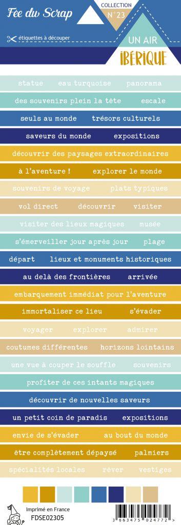Etiquette un air ibérique - bandes de mots