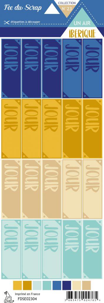 Etiquette un air ibérique - étiquettes jour
