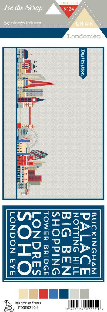 Etiquette un air londonien - cartes project life