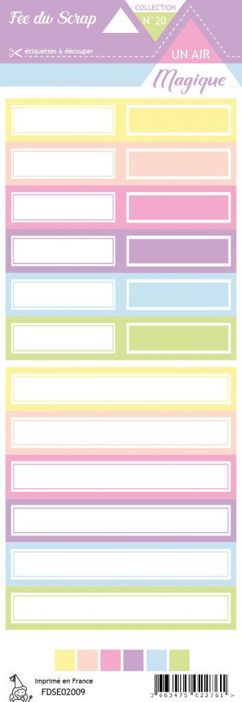 Etiquette un air magique étiquettes rectangles