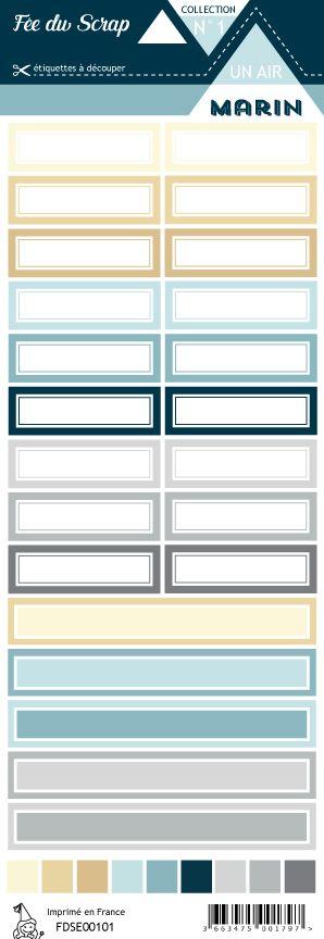 étiquette Un air marin étiquettes rectangles