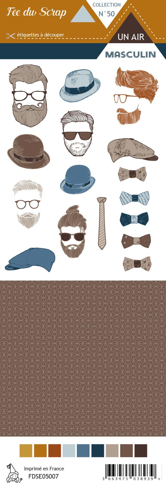 Etiquette un air masculin - Hipster