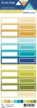 étiquette un air méditérranéen étiquettes rectangles
