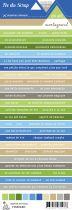 Etiquette un air montagnard - Bandes de mots multicolores