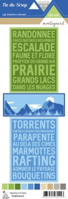 Etiquette un air montagnard - Cartes project life écritures